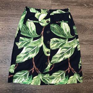Ann Taylor Amalfi button down skirt